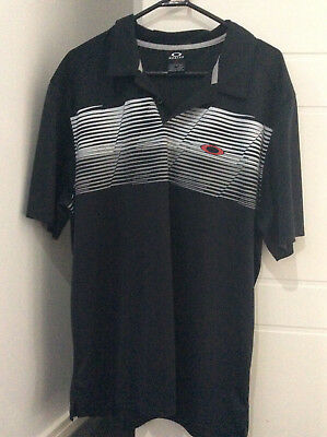 Men's Golf Shirt Oakley Size L Black
