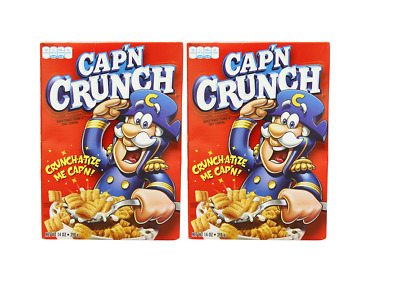 902683 2 x 398g BOXES OF CAP'N CRUNCH'S ORIGINAL CRUNCH SWEET CEREAL AMERICAN