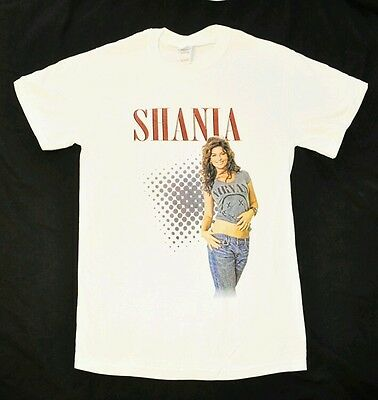"Shania Twain White ""Nirvana Tee"" T-shirt Size Adult Small NEW + now w/Free Gift"