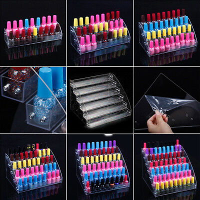 6 Styles Nail Polish Acrylic Clear Makeup Display Stand Rack Organizer Holder T