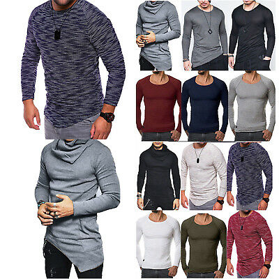 Men's Slim Fit Long Sleeve Muscle Tee T-shirt Sports Fashion Casual Tops Blouse