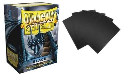 Dragon Shield - Black 100 Protective Sleeves Cases Standard Card Holder