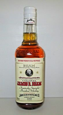 Jim Beam Bourbon brand new 700ml sealed COLONEL label limited edition bottle