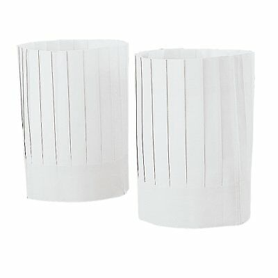 """White Paper Chef Fluted Hats 12 Pack 10"""" X 26"""" Circ."""