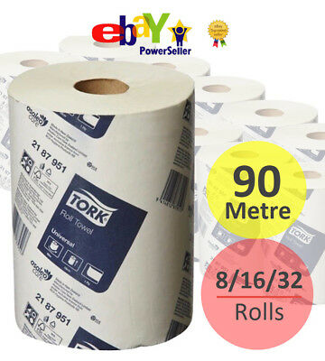 TORK Hand Towel Roll 90M Universal 1Ply Heavy Duty Commercial Industrial 2187951