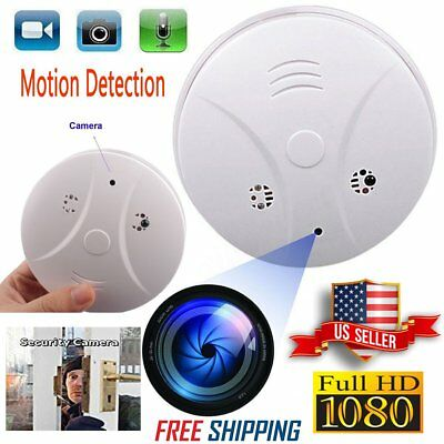 Mini HD Camera Hidden Camcorder Smoke Detector Home Survillence Nanny Cam 32GB