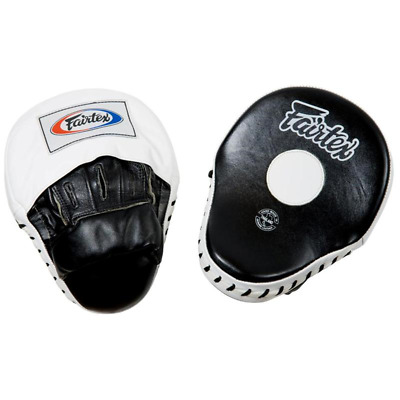 NEW Fairtex Focus Mitts - FMV9 Curved Punch Boxing Strike Focus Pads Leather
