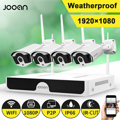 JOOAN 4CH Wireless 1080P NVR Outdoor indoor WIFI Camera CCTV Security System