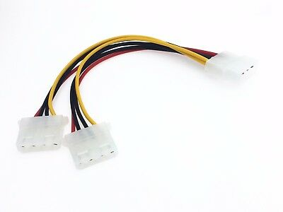 1pcs 4 Pin IDE Molex Power to 2 Molex Splitter Y Power Extension Cable 18cm