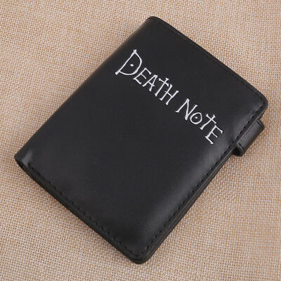 Hot Anime Death Note Button Short Wallet Purse Cash Card Holder Cosplay Black