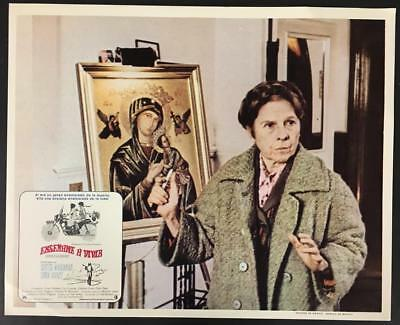 Ruth Gordon next to picture Blessed Virgin Mary Harold and Maude lobby card 1713