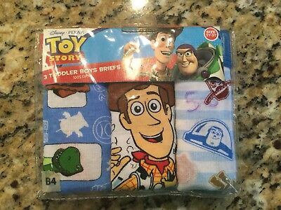NWT Toy Story Toddler Boys Briefs-package Of 3-Size 2-3 Toddler