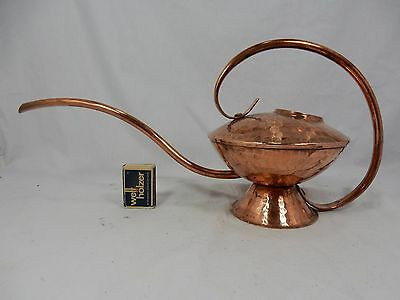 Well shaped handmade 60´s design copper watering can / Gießkanne 500 ml  11041