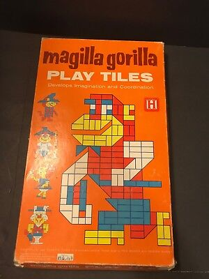Vtg Hanna Barbera Magilla Gorilla Play Tiles Puzzle Imagination Game Halsam 1964