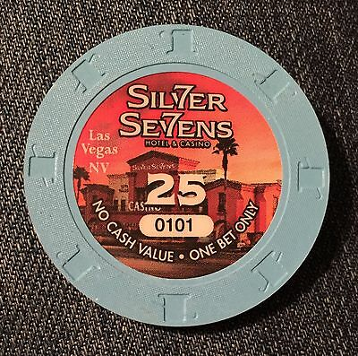 UNC☀Silver Sevens 7s☀Vegas Nevada $25 No Cash Value One Bet Only Casino Chip 101