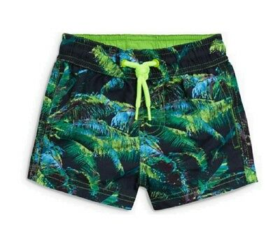 Next Baby Boys Swimming Shorts Age 12 18 Months Green Tropical Swimwear Trunks