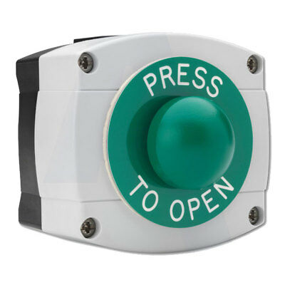 Asec Surface Mounted Press To Open Green Dome (AS10693)