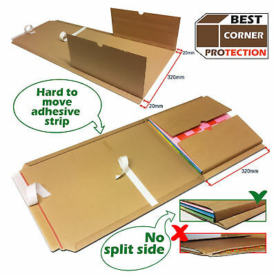 25 Strong Edge Protective Vinyl Record Mailers for LP, 12 Inch EP Free Fragile L