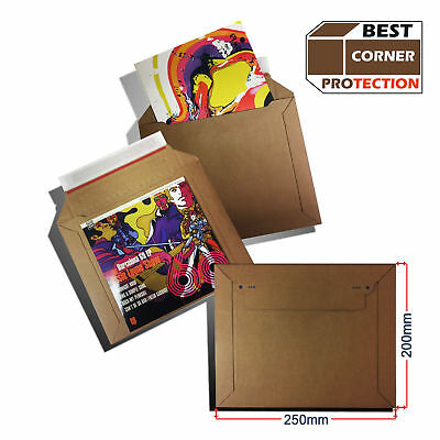 25 Strong Kraftliner Quality Cardboard Envelopes Vinyl Record Mailers for 7 Inch