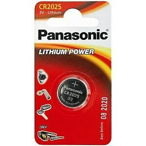 1 X Panasonic Coin Cell Battery Lithium 3V CR2025, KCR2025, BR2025