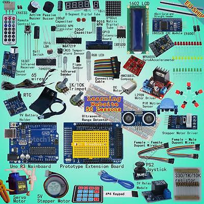 Professional UNO R3 Starter Kit for Arduino Servo LCD Compass Gyro Processing
