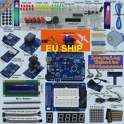 New Ultimate UNO R3 Starter Kit for Arduino 1602LCD Servo Motor RTC Processing