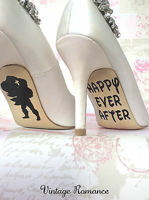 Ariel and Eric The Little Mermaid Disney Wedding Bride Shoe Sole Vinyl Decal