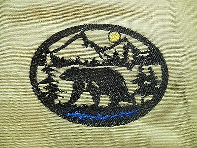 Bear Silhouette Wildlife Towels, Set of 2, 100% Cotton