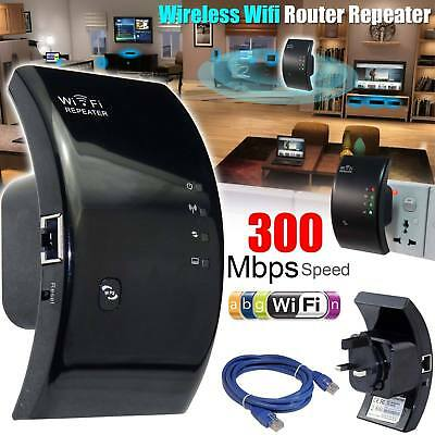 300Mbps N 802.11 AP Wireless Wifi Router Repeater Range Extender Booster UK Plug