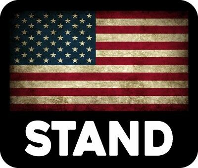 Trump Support Stand For American Flag Usa Maga Decal Bumper Sticker Political