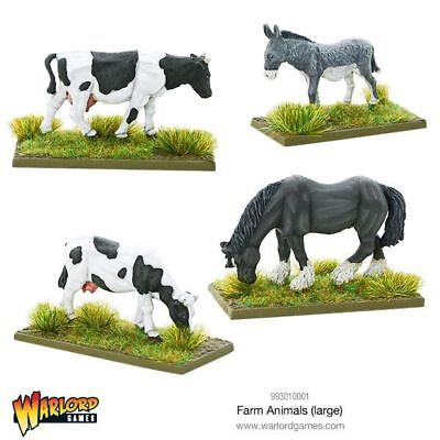 Warlord Games Large Farm Animals 28mm Tiere Tier Miniatur Pferd Esel Kuh