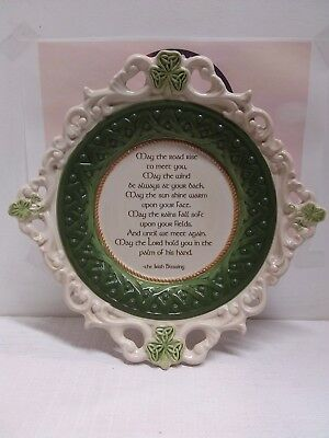 """Grasslands Road Irish Celtic blessing """"May the Road Rise"""" 10 1/2 """" plate"""