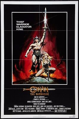 CONAN THE BARBARIAN original film / movie poster - Schwarzenegger