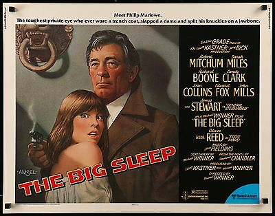 THE BIG SLEEP - Robert Mitchum - original film / movie poster (half sheet)