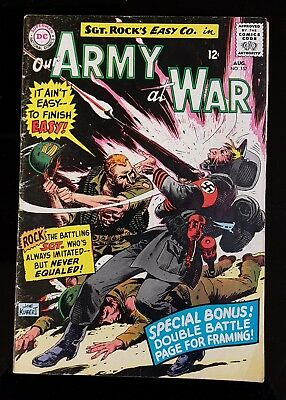 💥 OUR ARMY AT WAR - SGT ROCK #157 1965 *See pictures* Shipping CANADA+U.S.A