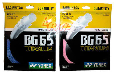 Yonex BG65Ti (Titanium) Badminton String 10m Set (Available in Pink or Blue)