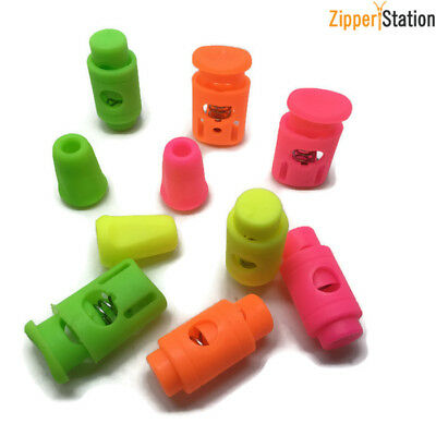 Toggle Cylinder Cord Locks and Ends, Spring Stopper - Fluorescent colours