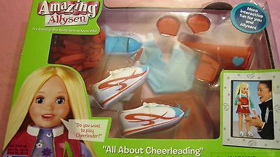 """All About Cheerleading Playpack for  the  Amazing Allysen 20"""" Doll by Playmates"""