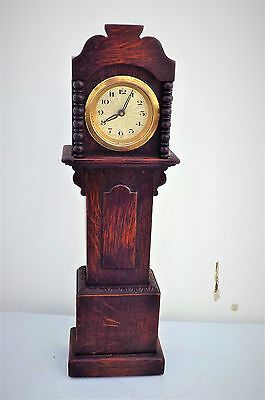 Minature oak grandfather clock
