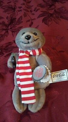 Collectible Coca-Cola Seal in Scarf Bean Bag Plush Style #0101 - New