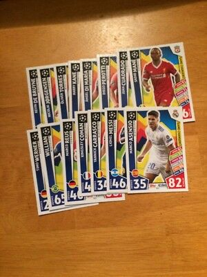Match Attax Uefa Champions League 2017/18 Full Set Of All 15 Game Changers Mint
