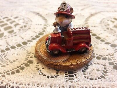 Wee Forest Folk M-77 Little Fire Chief  2 YEAR ISSUE  in MINT Condition with Box