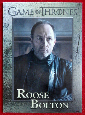 GAME OF THRONES - Season 6 - Card #54 - ROOSE BOLTON - Rittenhouse 2017