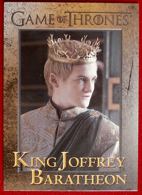 GAME OF THRONES - KING JOFFREY BARATHEON - Season 3, Card #36 - Rittenhouse 2014