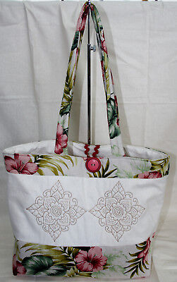 Patchwork Bag Pattern- Embroidered bag, quick and easy.