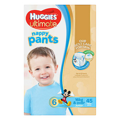 NEW Huggies Ultimate Nappy Pants Junior for Boys - 45 Pack