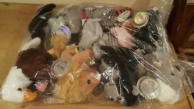 Coca Cola Plush International Beanie Babies Complete set of 10 New Mint w tags