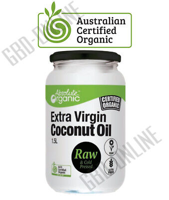Australian Certified Organic Extra Virgin Coconut Oil - Raw & Cold Pressed Vegan