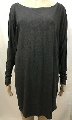 VINCE. Gray 3/4 Dolman Sleeve Tunic Mini Dress Women's Size L