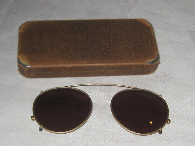Vintage Giorgio Armani clip on aviator sunglasses marked 138C